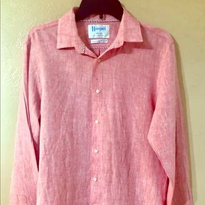 HASPEL Men's 100% linen Button down New Orleans